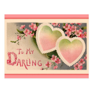Vintage Valentine's day holiday postcard