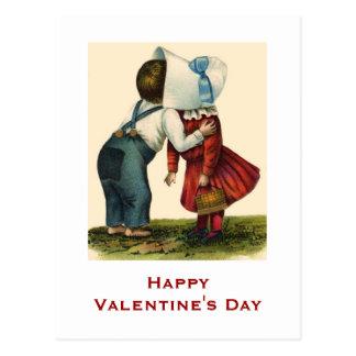 Vintage Valentine's Day Kissing Post Card