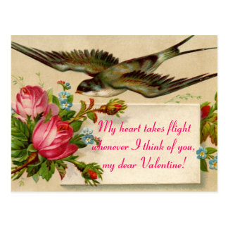 Vintage Valentine's Day  My Heart Takes...Postcard Postcard