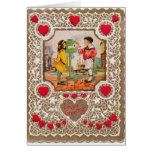 Vintage Valentine's Day Notecard Greeting Card