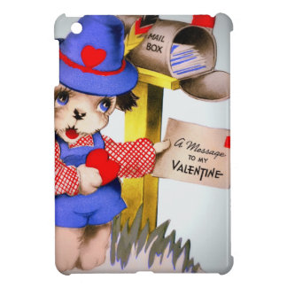 Vintage Valentine's Day Puppy Dog Mailbox Case For The iPad Mini