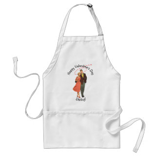 Vintage Valentine's Day, Romantic Floating Hearts Adult Apron