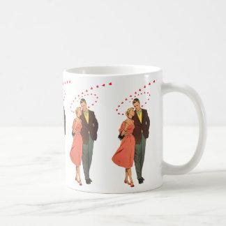 Vintage Valentine's Day, Romantic Floating Hearts Coffee Mug