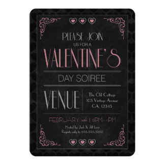 Vintage Valentine's Day Soiree Party Invitations