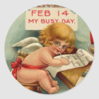 Vintage Valentine's Day Stickers