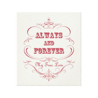 Vintage Valentine's Day stretched canvas Canvas Print