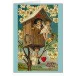 Vintage Valentine's Day Treehouse Cherubs Greeting Cards