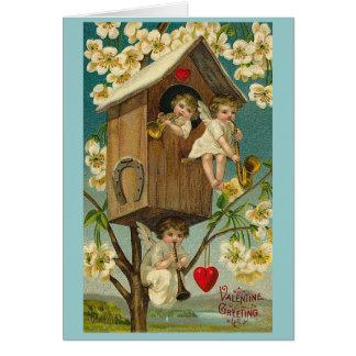 Vintage Valentine's Day Treehouse Cherubs Greeting Cards