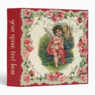 Vintage Valentine's Day, Victorian Angel on Phone Vinyl Binder