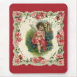 Vintage Valentine's Day, Victorian Angel on Phone Mouse Pad