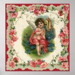 Vintage Valentine's Day, Victorian Angel on Phone Print