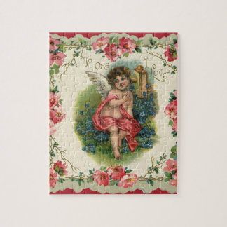 Vintage Valentine's Day, Victorian Angel on Phone Puzzles