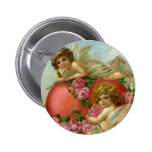 Vintage Valentines Day Victorian Angels Heart Rose Pinback Buttons