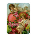Vintage Valentines Day Victorian Angels Heart Rose Magnets