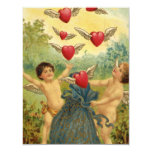 Vintage Valentine's Day, Victorian Angels Hearts Custom Invite