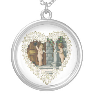 Vintage Valentine's Day, Victorian Angels w Letter Custom Jewelry