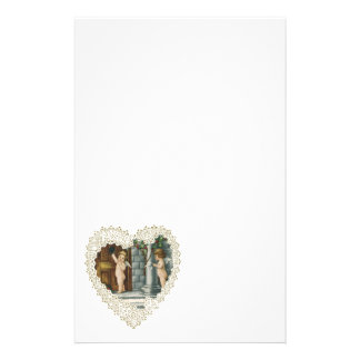 Vintage Valentine's Day, Victorian Angels w Letter Stationery