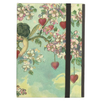 Vintage Valentines Day Victorian Cupids Heart Tree iPad Air Case