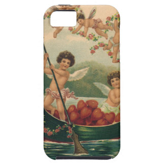 Vintage Valentine's Day, Victorian Cupids in Boat iPhone 5 Covers