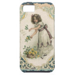 Vintage Valentine's Day, Victorian Girl with Roses iPhone 5 Covers
