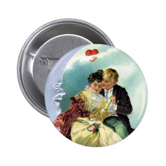 Vintage Valentine's Day Victorian Love and Romance Pinback Button
