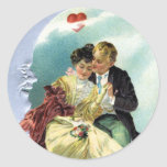 Vintage Valentine's Day Victorian Love and Romance Classic Round Sticker