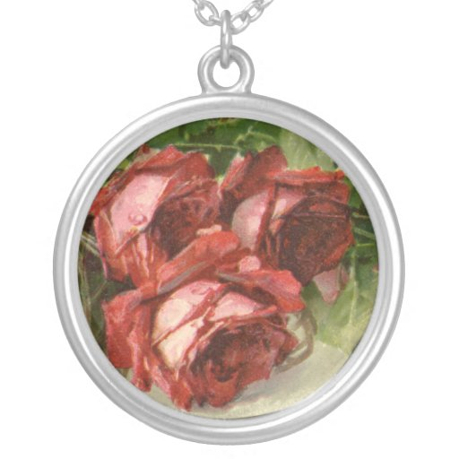 Vintage Valentine's Day, Victorian Red Roses Custom Jewelry
