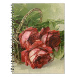 Vintage Valentine's Day, Victorian Red Roses Note Book