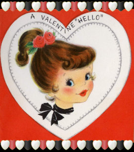 Vintage Valentine's for Kids Holiday Postcard