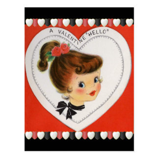 Vintage Valentine's for Kids Postcard