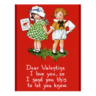 Vintage Valentine's for Kids Postcard