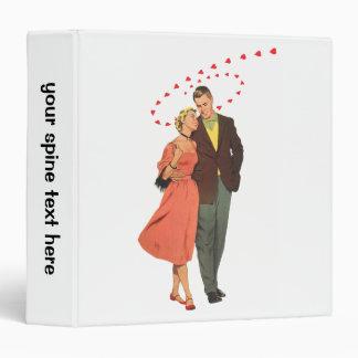 Vintage Valentines Lovers with Floating Hearts Vinyl Binders