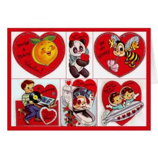 Vintage Valentines Space Ship Cards