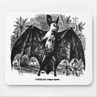 Vintage Vampire Bat Mousepad