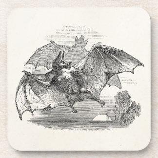 Vintage Vampire Bats Personalized Retro Bats Beverage Coaster