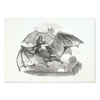 Vintage Vampire Bats Personalized Retro Bats Card