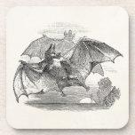 Vintage Vampire Bats Personalized Retro Bats Drink Coaster
