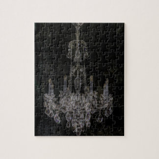 Vintage vampire gothic distressed chandelier jigsaw puzzle