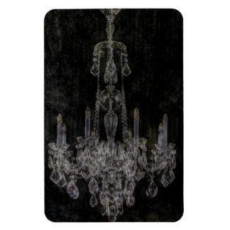 Vintage vampire gothic distressed chandelier magnet