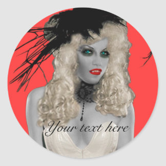 Vintage Vampire Stickers Victorian Vamp