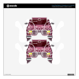 Vintage Van Front Decal For PS3 Controller