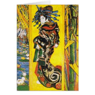 Vintage Van Gogh Geisha 1887 Card