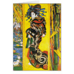 Vintage Van Gogh Geisha 1887 Greeting Card
