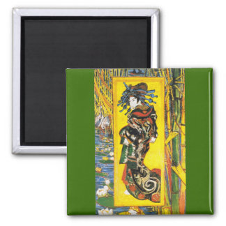 Vintage Van Gogh Geisha 1887 Refrigerator Magnets