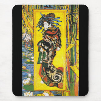 Vintage Van Gogh Geisha 1887 Mouse Pad