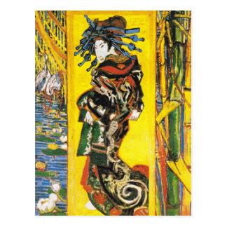 Vintage Van Gogh Geisha 1887 Postcard