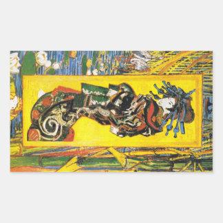 Vintage Van Gogh Geisha 1887 Rectangular Sticker