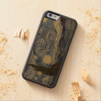 Vintage Van Gogh Starry Night Carved Cherry iPhone 6 Bumper Case