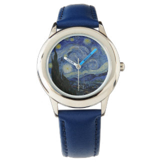 Vintage Van Gogh Starry Night Wristwatch