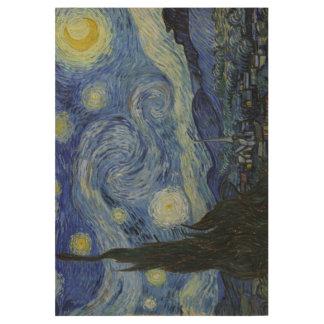 Vintage Van Gogh The Starry Night Art Wood Poster